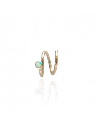 Opal Mirage guld ørering uden lås Mille Rubow Jewelry
