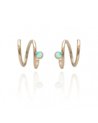 Opal Mirage gold earring Mille Rubow Jewelry Aarhus