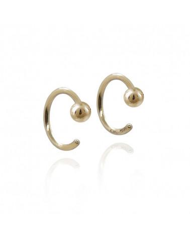 Pearl Hoop eksklusive øreringe uden lås Mille Rubow Jewelry
