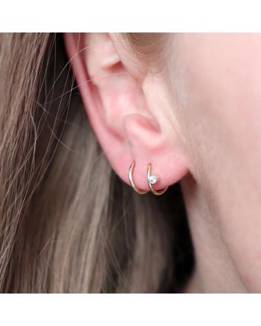Mirage ørering massiv guld dansk smykkedesign Mille Rubow smykker Aarhus