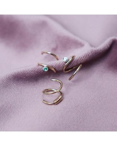 Mirage ørering safir diamant Mille Rubow smykker Aarhus