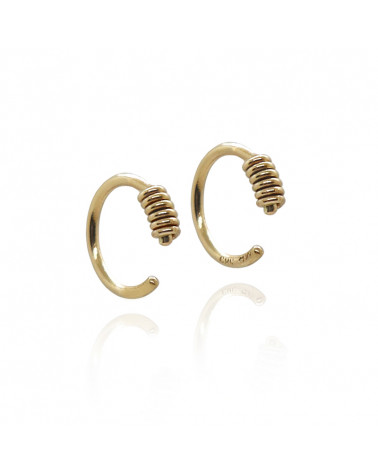 Hoop ørering massiv guld 14k Mille Rubow Jewelry Aarhus